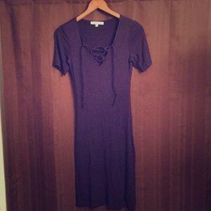 Navy blue mid length dress!